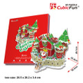 Magical Christmas LED Castle 84 Piece 3D Holiday Puzzle