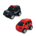 Junior Racers 2 Pack Push n Go Police and Fire Truck