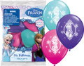 """Disney Frozen Printed Latex 12"""" Party Balloons 6 Pack"""