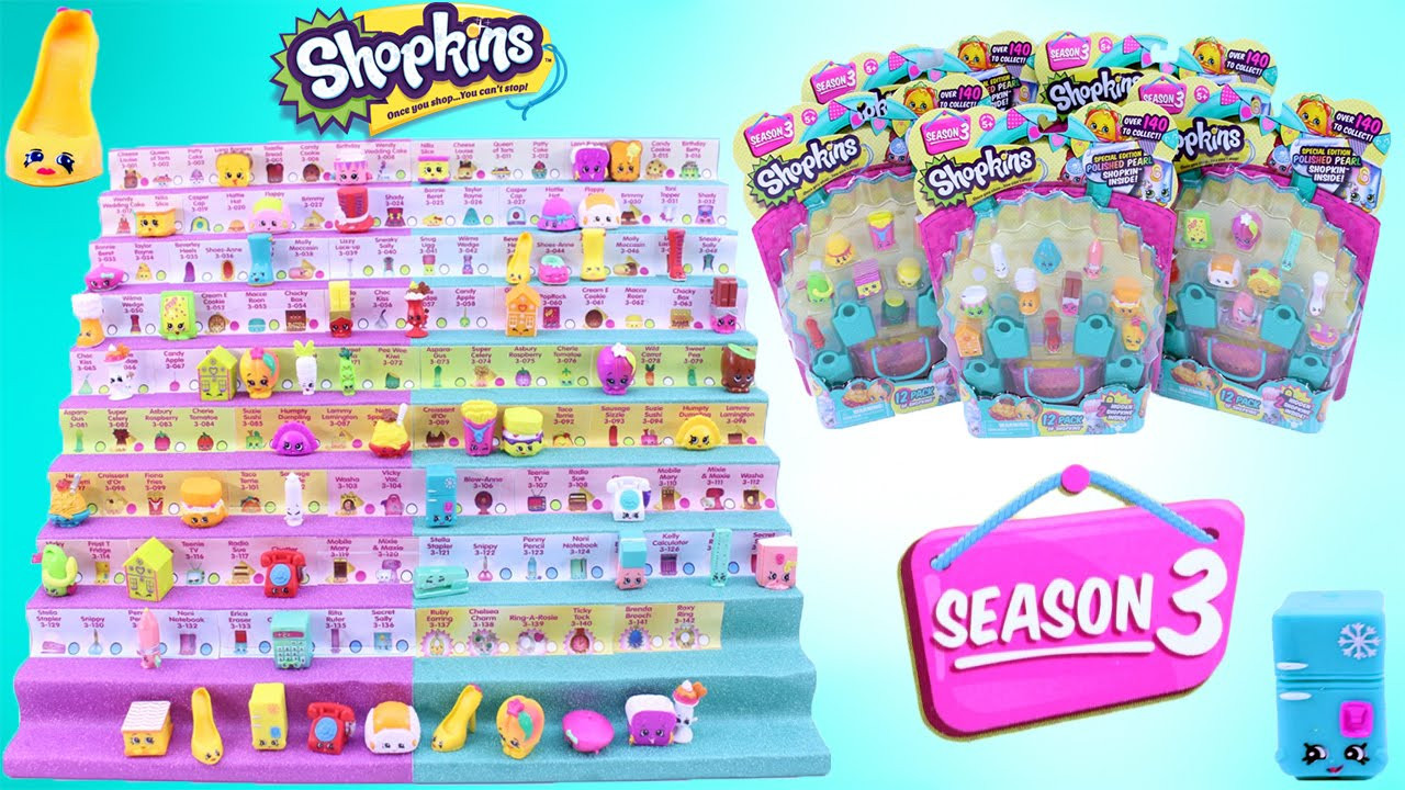 SHOPKINS SEASON 3 12 PACK Special Edition Polished Pearl
