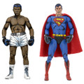 "DC Comics 2 Pack Superman VS. Muhammad Ali 7"" NECA Action Figures"