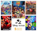 Disney Pixar Set of 5 Jigsaw Puzzles From 300 to 750 pieces