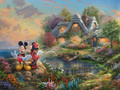 Disney Mickey And Minnie Sweetheart Cove Thomas Kinkade Collection 750 Piece Jigsaw Puzzle