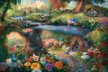 Alice In Wonderland Disney Thomas Kinkade Collection 750 Piece Jigsaw Puzzle