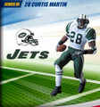 Rare NFL Series 3 RE-PLAYS Curtis Martin New York Jets Action Figure