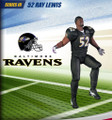 Rare NFL Series 3 RePlays Ray Lewis Action Figure