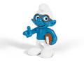 The Smurfs Movie - Brainy Smurf with Book Figurine - Schleich