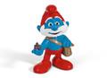 The Smurfs Movie - Papa Smurf with Bag Figurine - Schleich