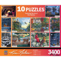 Set of 10 Jigsaw Puzzles All in One Box 3400 Total Pieces by Kim Norlien Collection