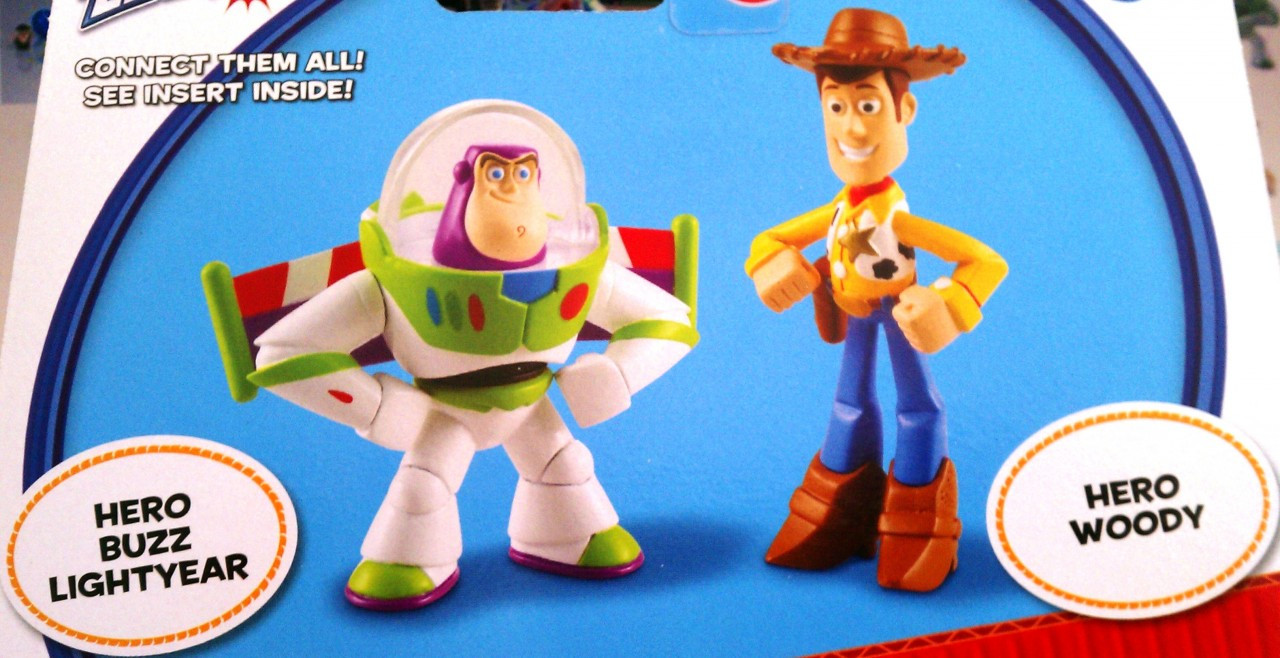 Disney Pixar Toy Story 3 Action Links Buddy 2 Pack Hero Woody and Hero Buzz  Lightyear. Image 1. Loading zoom 066b443f255
