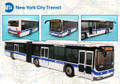 "New York City Licensed MTA Articulated Die-Cast 16"" Bus"