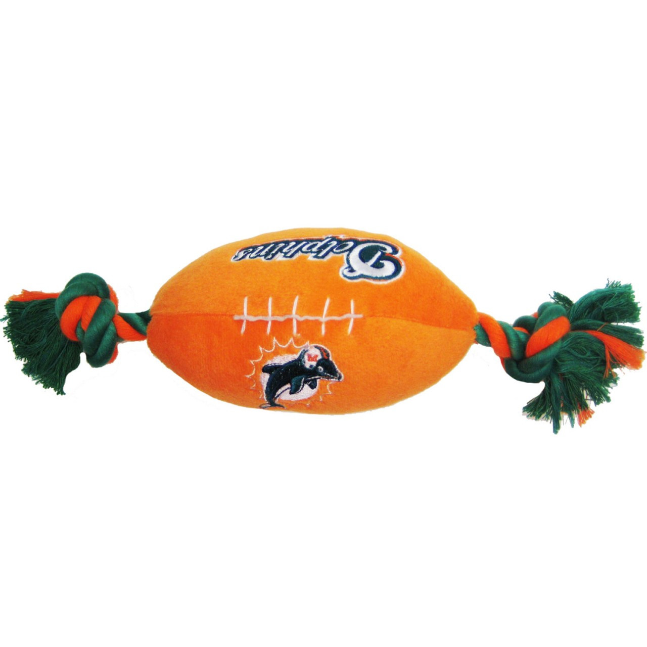 Miami Dolphins Plush Dog Football Toy