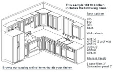 10X10 RTA Kitchen Set