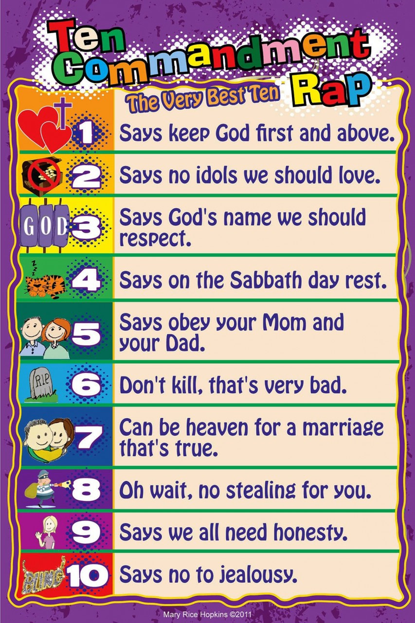 picture relating to 10 Commandments Poster Printable known as 10 Commandments For Little ones Poster - Кинозавр