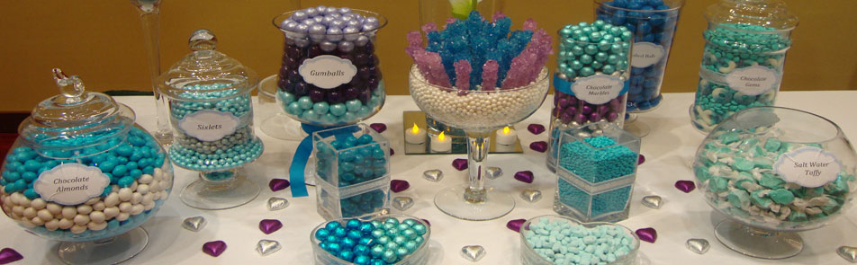 Blue candy table model