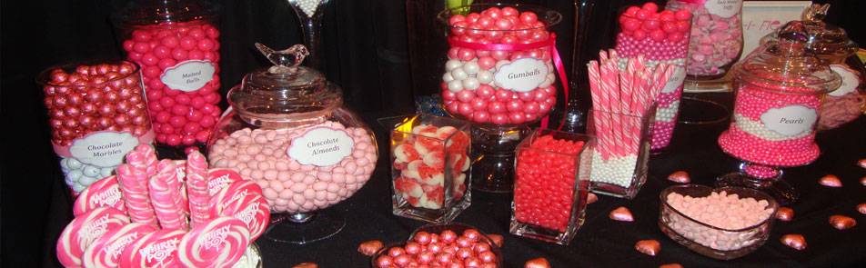 Pink  candy table model