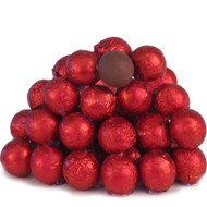 Chocolate Marbles Solid Chocolate balls Red 1.5 Pounds