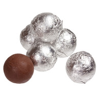 Chocolate Marbles Solid Chocolate balls Silver 1.5 Pounds