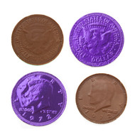 Chocolate Coins 6 Pounds (lb) Purple CASE