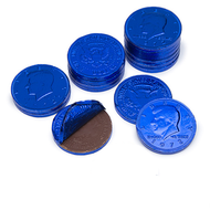 Chocolate Coins 6 Pound (lb) Royal Blue CASE