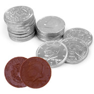 Chocolate Coins 6 Pound (lb) Silver CASE