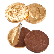 Chocolate Coins 5 Pound (lb) Gold CASE