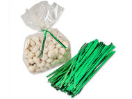 Wire Ties Green 100 Count