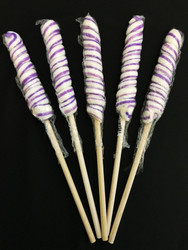 "9"" Twisted Pop 72 Count CASE/Light Purple & White"