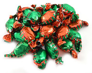Strawberry Bon Bons Candy 31 LBS Case - Green & Red