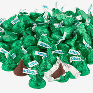 Hershey's Kisses 2 pounds Bulk Green Foil