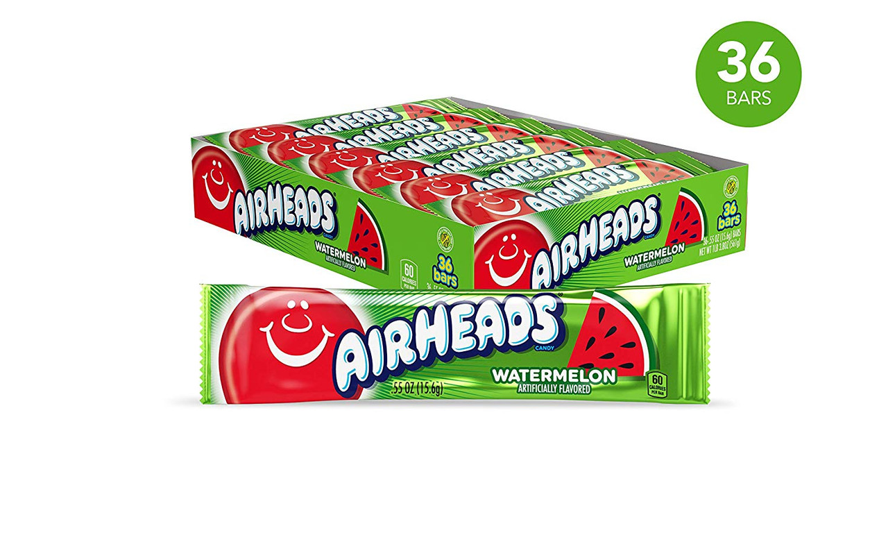 Airheads Air Heads Green Watermelon 36 Count