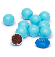 Powder Blue Sixlets 12 LBS CASE/Candy Coated Chocolate