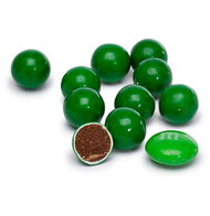 Sixlets Dark Green 12 LBS CASE/Candy Coated Chocolate