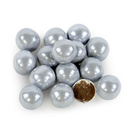 Sixlets Shimmer Silver 12 LBS CASE/ Candy Coated Chocolate