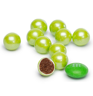 Sixlets Shimmer Lime Green 12 LBS CASE/Candy Coated Chocolate