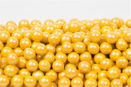 Shimmer Pearl Yellow Sixlets 12 Pound Case Candy Coated Chocolate