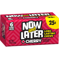 Now And Later Candy 12 Pack Case Red Cherry
