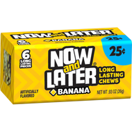Now And Later Candy 12 Pack Case Banana