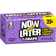 Now And Later Candy 12 Pack Case Grape