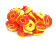 Peach Gummy Rings 5 Lbs Pounds Bag