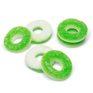 Apple green gummy rings