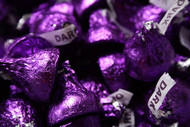 Hershey's Kisses Purple Dark Chocolate 25 pound Case