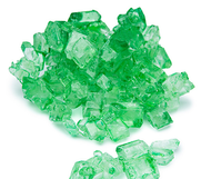 Green lime rock candy string zoomed
