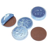 Chocolate Coins Light Blue It's a Boy /6 LBS CASE