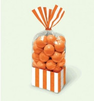 Candy Favor Bags 10 ct Orange