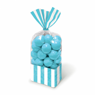 Candy Favor Bags 10 ct Caribbean Blue