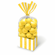 Candy Favor Bags 10 ct Yellow