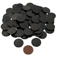 Chocolate Coins 1 Pound (lb) Black