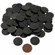 Chocolate Coins Black 6 Pound (lb) CASE