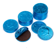 Chocolate Coins 1 Pound (lb) Caribbean Blue